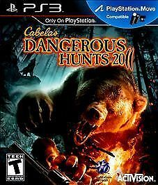 Cabela's Dangerous Hunts 2011 (Sony PlayStation 3, 2010) COMPLETE, GREAT SHAPE