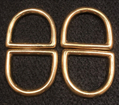 """Dee Ring - 1 1/2"""" - Solid Brass - Pack of 8 (F259)"""