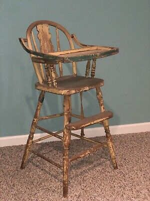 VINTAGE 1950s Antique High Chair