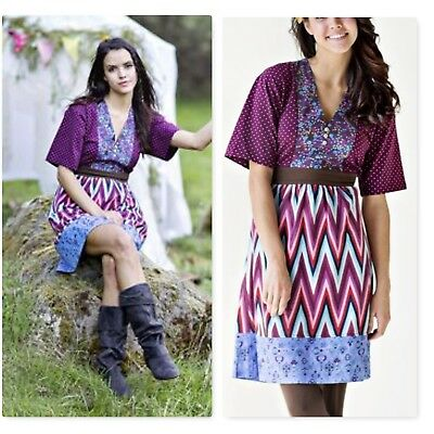 Matilda Jane Collage Kimono Dress Paint by Numbers March 2013 sz Small