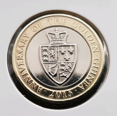 Anniversary of the GOLDEN GUINEA 2pound Coin GREAT CONDITION FREE COIN