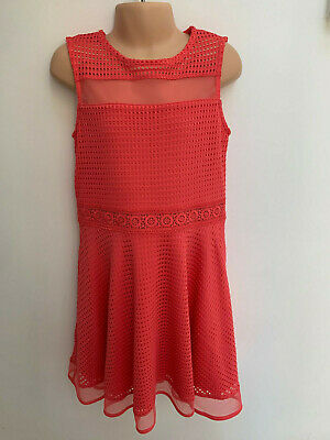 ex RIVER ISLAND Girls Pink Dress for Age 5-6 Years Old