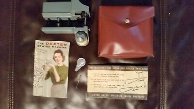 Vintage Dexter Automatic Hand Held Sewing Machine + Case & Instructions Hemmer