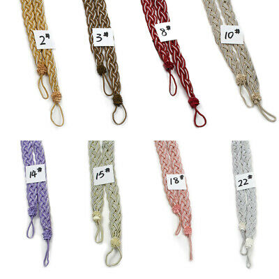 Braided Tiebacks New Polyester Knitted Voile Decor Rope Satin Holdbacks Curtain