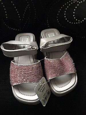 Girls Sequinned Sandals / Shoes Size 12 By Adams In Lilac Euro Size 30-31