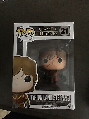 FUNKO POP! Game Of Thrones - Tyrion Lannister W/Scar Battle Armour #21.