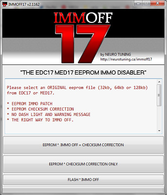 Immo Off Edc17 Mev17 Med17 Scodifica Immobilizer New Version 2.1162!!!