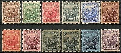 Barbados 1921-24 KGV set of mint stamps value to 3 shillings  Mint Hinged