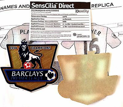 2013-14 Manchester City EPL CHAMPIONS SportingiD REPLICA SIZE Badge Patch Set