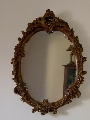 Antique Gold Plaster Wall Mirror