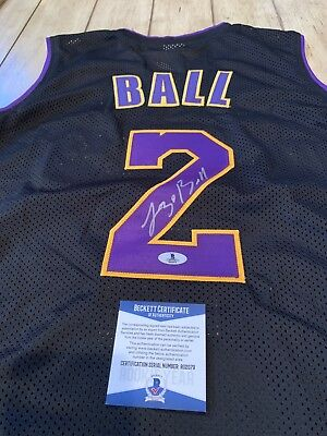 9935385bd22 LOS ANGELES LAKERS Lonzo Ball Signed Yellow Gold Jersey Auto - BAS ...