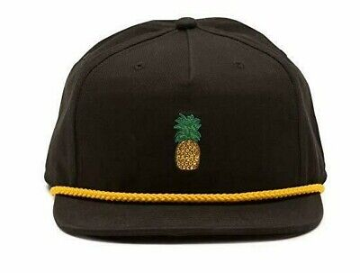 5bfc4a12 Vans Men's Pineapple Unstructured Hat Black One-Size cap 80's new nwt skate