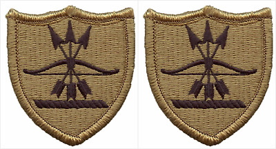 2 Pack US Army North Dakota National Guard OCP Hook Back Military Patches