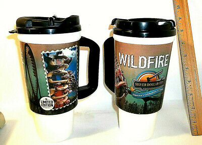 Lot Of 2 2016 Silver Dollar City Whirley Mug Limited Edition Wildfire Collectab