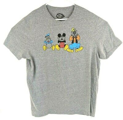 743ca1987779 Disney Mens Size 2XL XXL Short Sleeve Graphic Tee Shirt Mickey Mouse Goofy  Top