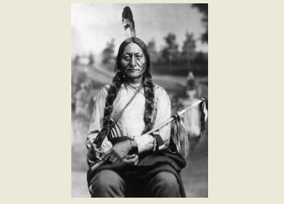 1881 Chief Sitting Bull PHOTO Portrait Lakota Indian, Battle of Little Bighorn