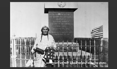 Chief Quanah Parker Grave PHOTO,Native American Indian Nation, Burial Site 1940