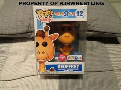 RARE TOYS R US GEOFFREY FLOCKED FUNKO POP! FIGURE 12 VAULTED RETIRED w/PROTECTOR