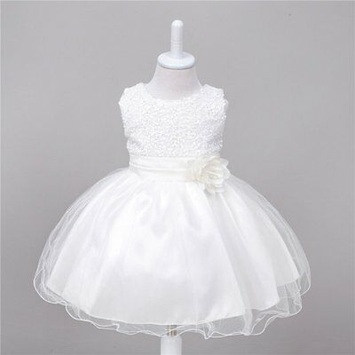 Savannah IVY Baby Flower Girl Christening Gown Formal Ivory Dress Gift 0-10Y