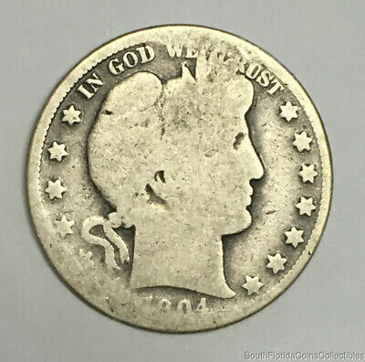1894-S San Francisco Mint Silver Barber Half Dollar About Good Condition