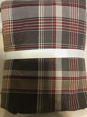 Pottery Barn Teen twin Field House Plaid Duvet Cover only Red