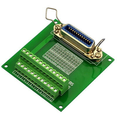 "24-Pin 0.085"" Centronics Vertical Female Ribbon Connector Breakout Board."