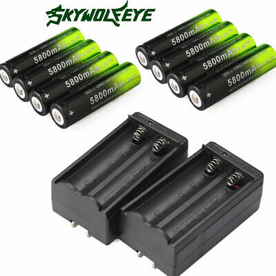 USA  Skywolfeye 5800MAH 18650 Rechargeable Li-ion Battery Batteries +Charger