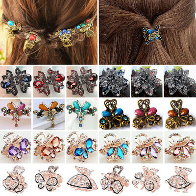 EFocus Crystal Rhinestones Claws Clip Hair Accessories Butterfly Design Fancy