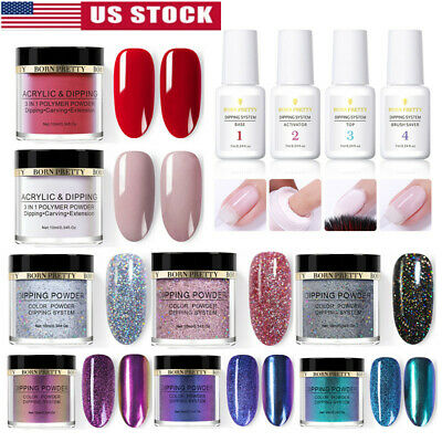 BORN PRETTY Nail Art Dipping Powder Glitter Holographic Acrylic Pro Starter Kit