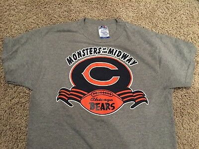best service c4642 8c2e5 CHICAGO BEARS MONSTERS of the Midway NFL rare vintage 80s 50/50 t-shirt  Adult S