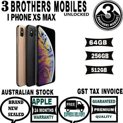 [AU STOCK] APPLE IPHONE Xs MAX 512GB SPACE GREY SILVER GOLD UNLOCKED GST TAX INV