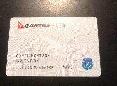 Four Qantas Club Lounge Pass November 2019 Expiration Valid Worldwide