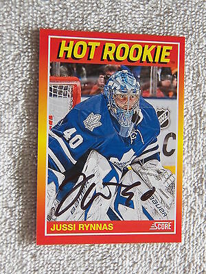 Alternate Logo Toronto Maple Leafs Auto 2012 Panini Limited 217.2 Jussi Rynnas