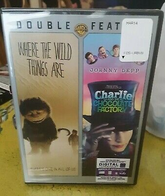 Where the Wild Things Are/Charlie and the Chocolate Factory DVD NEW WITH DIGITAL