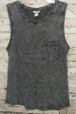9ed9b7ceb747a Mossimo Supply Co. Womens Size Small Tank Top Gray Pocket Cotton Shirt Comfy