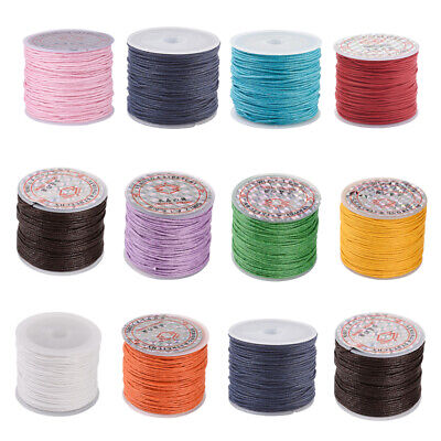 25m Cotton Waxed Cord Thread String DIY Craft Bracelet Necklace Jewelry Making