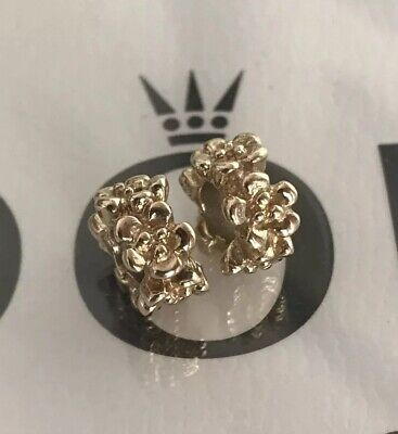 Authentic Pandora Ring Of Flowers Spacers Pandora Charms Pandora 14K Solid Gold