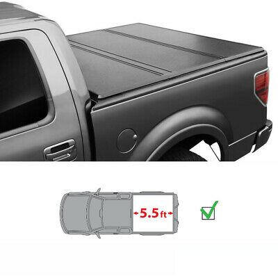 5.5ft Lock Hard Solid Tri-Fold Tonneau Cover Fit 04-18 Ford F-150 F150 Truck Bed