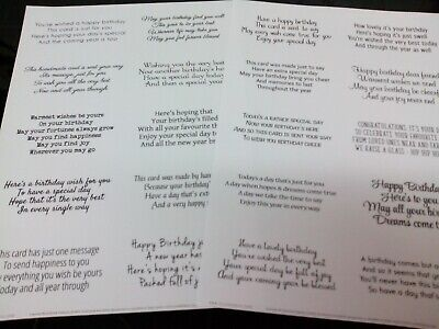 Verses for Cards Christmas Set Transparent Peel Off Stickers for Card Making