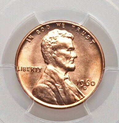 1960-D Small Date MS66 RD Red PCGS GEM Lincoln Cent Bright and Lustrous