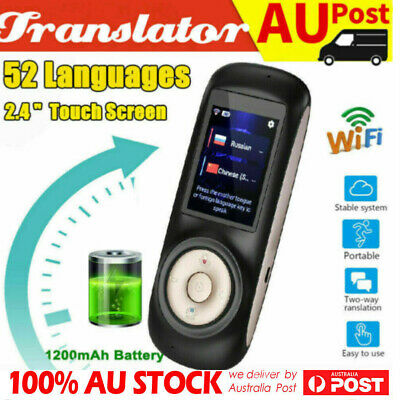 52 Languages Pocket Smart Translator Instant Voice Translation  Travel WiFi NEW