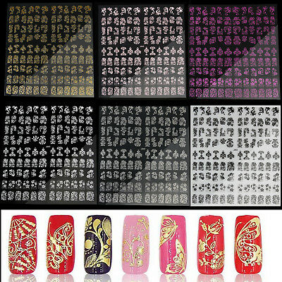5Sheet Multi Style 3D Nail Art Decal Stickers Flowers Design Tips Decor Crafts