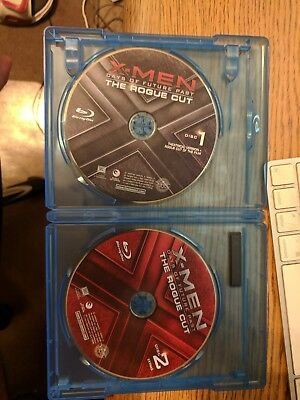 X-Men Days Of Future Past Theatrical & Rogue Cut BLU RAY DISCS ONLY