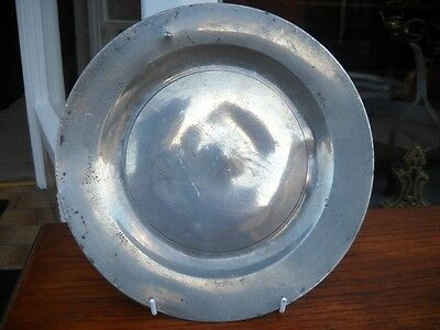 Antique 18th Century Pewter Plate   (1)