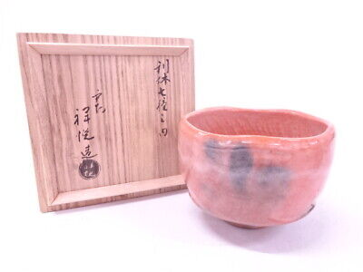 4126308: Japanese Tea Ceremony / Red Raku Tea Bowl / Chawan Artisan Work