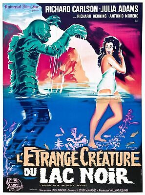 THE CREATURE FROM THE BLACK LAGOON Movie Art Silk Poster 12x18 24x36 24x43