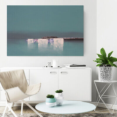 Abstract Hand-Painted Oil Painting Home Decor Canvas Art Wall Framed Seaside