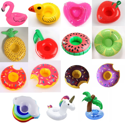 10 x Mixed Inflatable Floating Drink Can Cup Holders Hot Tub Swimming Pool Party