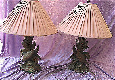 A Pair of Antique Lamps Wood Carved Black Forest 19th century