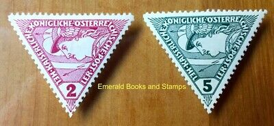 EBS Austro-Hungarian Empire 1916 Newspaper Express Stamps 217-218 MH*